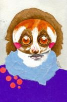 Hanny Slow Loris by LadyOrlandoArt