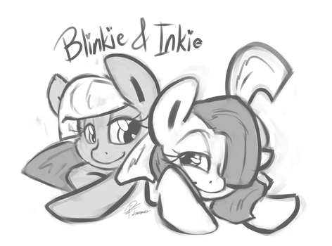 Inkie and Blinkie Commish by leadhooves