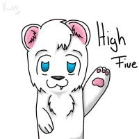 Polar Bear High-Five Kumajiro by IronMeow