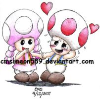 Toad and Toadette by cmsimeon589