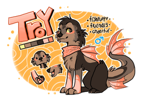 Fishpup adoptable Troy SOLD by Nekoshiba