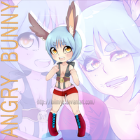 ADOPTABLE//AUCTION-ANGRY BUNNY (CLOSED) by LoliMiyu