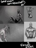 Anatomy Study: Greyscale by mad-fever