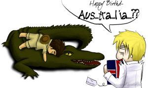 APH: Happy Birthday Australia by ChibiCookieGirl