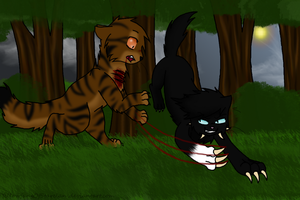.:Tigerstar vs Scourge:. by YellowfangOfStarclan