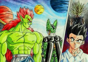 Bojack Vs Cell by HomolaGabor