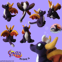 Custom Spyro Plush by SetariPlush