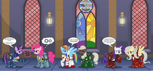 Mane6 Space Marines by A4R91N