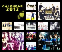 2012 Kpop Calendar by nanomeow