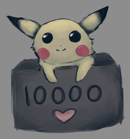 Pikachu - 10000 pageviews by S1ghtly