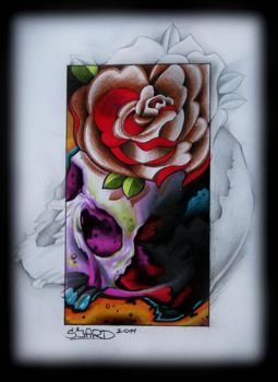 Skull rose thing by Sjard