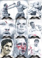 Topps UFC Bloodlines cool gray sketch cards #3 by therealbradu
