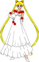 Usagi in ballgown by dreamweaverserenity