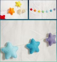 Felt Rainbow Star Garland by OkashiBurochi