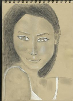 Kraft test - Woman face study n109 by lv888