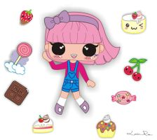 Sweet Candies Girl by Louise-Rosa