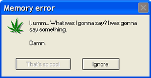 Error message weed by FLCLover