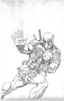 deadpool cover pencils by EdMcGuinness