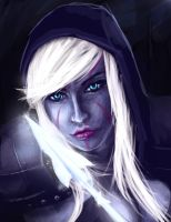 Dota 2 Fan Art - Drow Ranger by Jeffufu