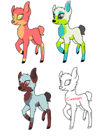 Doe Adoptables CLOSED! by Adoptables-4-Less