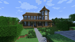 Minecraft Render: Forest House by dak47922