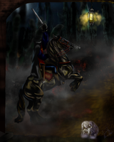 The Headless Horseman by GhostMoonGallery