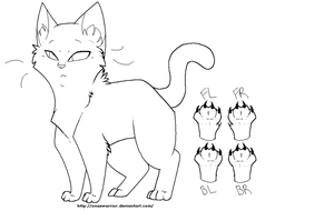 Male Cat Outline NEW by OneXWarrior