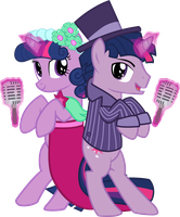 Twilight and Dusk singing at the wedding by DrakoDarker
