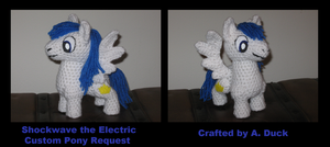 Custom Pony - Shockwave the Electric by Milayou