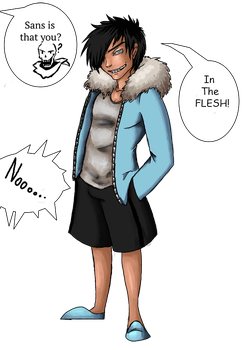 Sans In the Flesh by Mahanon