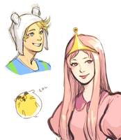 adventure time doodles by justduet