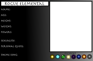 Rogue Elemental Profile Sheet by RobotsWithCookies