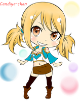 Chibi Lucy Heartfilia (COLORED) by Candiya-chan