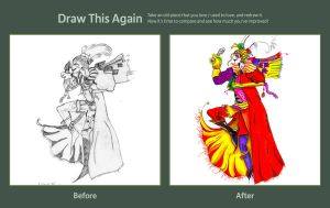 Draw this again : FF6 Kefka Palazzo by DO-anotherstory