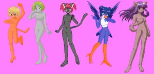 Mew Mew Girls Anthros by Dinalfos5