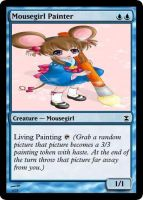 Mousegirl Painter by OmegaHawke
