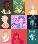 colour palette meme dump by broodlings
