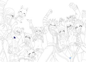 Fairy tail cap 435-Lineart by fresaton