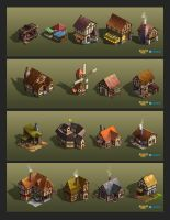 Kingdom Age Buildings by lockjaw
