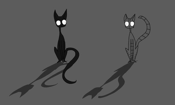 Two Cats by PineMelons