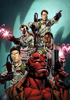 Hellboy and The Ghostbusters by spidermanfan2099