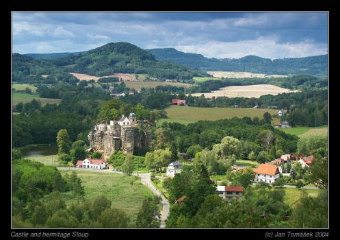 Castle and hermitage Sloup by semik