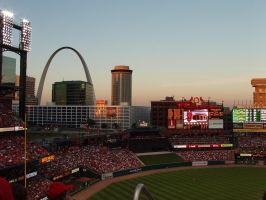 sunset on busch stadium by americanina