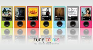 Zune COLORS by SlideEchizen