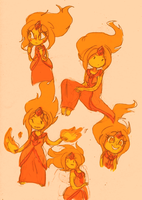 __Flame Princess doodles___ by Umbra-Flower