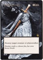 Magic the Gathering Alteration: Hero's Downfall by Ondal-the-Fool