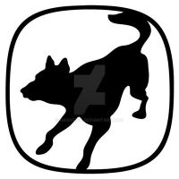 Service Canine Emblem Outline by hassified