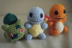 Little Amigurumi Anime Game Monsters by ChibiSayuriEtsy