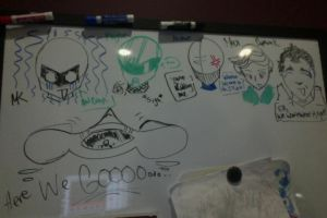 The Crew on my Whiteboard by IdanCarre