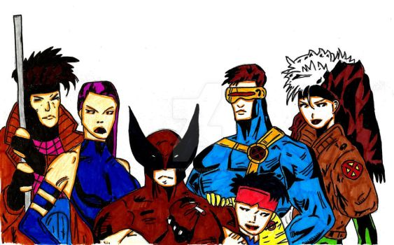 X-Men Blue Team by frostyrogue